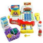 Spielzeugkasse für Kinder - Kasse für Kaufmannsladen - Rot