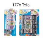 Megaset 177 Teile Spielgeldset, Spielgeld Euro Scheine Cash und Münzen mit Kasse für Spielzeug Ladengeschäft Kinderküche Spielladen von TK-Gruppe