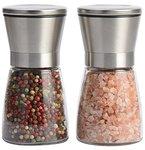Salz und Pfeffermühle Set 2x Pack mit einstellbarer Feinheit, Edelstahl Gewürzmühle von Leesentec