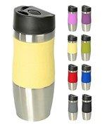 WELLGRO® Thermobecher 400 ml - Edelstahl - BPA-frei - Isolierbecher - Farbe wählbar, Farbe:Creme