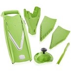 Börner Gemüsehobel V5 PowerLine Plus Set (grün) - BPA frei
