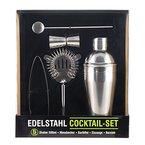 Cocktailshaker Set von Trendario - Premium Cocktailset aus Edelstahl - 5 teiliges Profi Cocktail Mixer Set: Martinishaker + 0,5L Mixer mit Sieb + Messbecher + Barlöffel + Zange