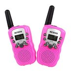 Retevis RT-388 Walkie Talkie für Kinder UHF VOX 8CH mit LC-Display (1 paar) (Rosa)