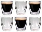 6x 70ml doppelwandige Espressogläser, auch für türkischen Tee geeignet Filosa Diamond Edition