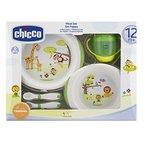Chicco Geschenkset Mahlzeit, 12+ Monate, 1 Trinklernbecher mit 1 Tellerset flach und tief 1 Esslernbesteck