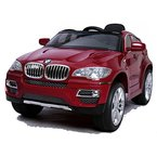 simron BMW X6 SUV Elektro Kinderauto Kinderfahrzeug Ride-On 12V Kinder Elektroauto -rot-