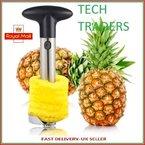 Tech Traders® New Edelstahl Fruit Ananas Schäler/Schneider/Entkerner kitchen-life Zeit Garantie