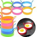 VWH Spiegeleiform für Bratpfanne pfannkuchen form aus silikon Spiegeleiformen für Pfanne & Frühstück - 4 Stück (Rote)