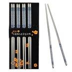 SUMERSHA 5 Paar Essstäbchen Chopsticks Aus Edelstahl (B)