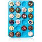 Joyoldelf 24er Mini-Muffinform Silikon Backform, antihaftbeschichtet, Cupcakes, Brownies, Kuchen, Pudding, Muffinform Lila Violett
