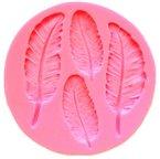 Beauty*Top*Picks Federn Silikon-Form f¨¹r Fondant/Schokolade/Zuckerverzierung, f¨¹r Cupcakes