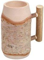 Hofmeister Holzwaren Bierkrug, mit Rundstabgriff, Länge: 150 mm, aus Birkenholz