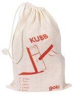 Goki 56745 - Wikingerspiel Mini-KUBB mit Baumwollbeutel