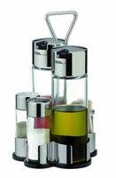 Tescoma Club Essig- und Ölspender mit Salz- und Pfefferstreuer und Zahnstocher