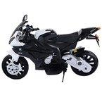 Lizenz BMW S1000RR Elektro Kinder Motorrad Kinderfahrzeug 2x Motor mit LED Beleuchtung und Soundeffekten (Schwarz)