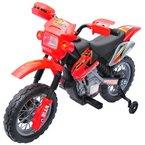 Homcom® Kinderauto Kinderwagen Elektroauto Kinderfahrzeug Kindermotorrad Quad Elektroquad Kinderquad Elektromotorrad (Motorrad/rot)