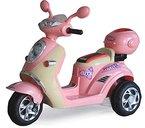 Kinderfahrzeug - Elektro Kindermotorrad Roller-Scooter - 6V mit Mp3 - Neuheit-Rosa