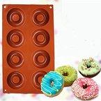 VWH Donutform mit 8 Mulden, Backform für Donuts Schokoladenform, Seifenformen, Süßigkeiten Formen