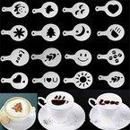 HENGSONG 16 Stück Cappuccino Schablone Kaffee Schablone Deko Plätzchen Kuchen Schablonen Form