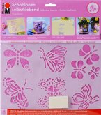 Marabu 027400006 - Schablone selbstklebend Papillons A5