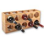 Torrex 31535 Weinregal aus edlem Bambusholz stapelbares Weinflaschenregal für 5 Flaschen Wein, liegend oder stehend, erweiterbar (2 Regale)