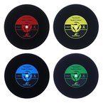 WOLFTEETH 4 x Vinyl Retro Runden Schallplatten Untersetzer Getrank - Untersetzer aus Filz für Tisch und Bar als Glasuntersetzer/ Getränkeuntersetzer für Glas und Gläser 5006