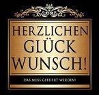 Udo Schmidt Aufkleber Flaschenetikett Etikett Herzlichen Glückwunsch schwarz gold elegant