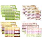COM-FOUR® 120 Stück Etiketten für Gläser & Flaschen, 4 verschiedenene Dekore