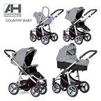 Haberkorn Country Kinderwagen Luftreifen Maxi Cosi Adapter geländetauglich (grau/schwarz)