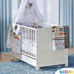 Belivin - Belivin Baby & Juniorbett Milano 140x70cm - Weiss