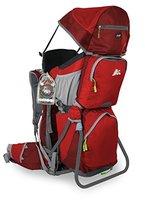 MARSUPIO® CARRYBABY Baby Tragerucksack (Höhenverstellbarer Sitz 5-Punkt-Sicherheitsgurt Sonnen-/Regenschutz Standfuß + LED-Lampe) (Carry Red)