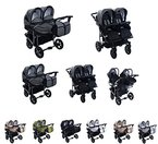 "Clamaro 3 in 1 ""Gemini 2016"" Kombi Zwillingskinderwagen System mit 2x Babywanne, 2x Buggy, 2x Maxi-Cosi Babyschale Autositz (Isofix), leinen grau"