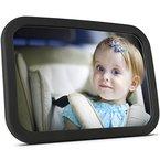 Baby-Spiegel für's Auto - großer Rücksitzspiegel für Babys (Kindersitz-Spiegel), splitterfreier Autospiegel / Rückspiegel für's Baby