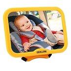 Rücksitzspiegel Baby Spiegel für Babys Deallink Autospiegel Gelb Kindersitz, Sicherheitsspiegel, Easy safetyview, verstellbar drehbar schwenkbar