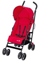 Safety 1st 11328850 Slim, kompakter Liegebuggy mit Sonnenverdeck, plain red
