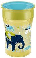 NUK 10255271 Magic Cup 250 ml, neuartiger Trinkrand, abdichtende Silikonscheibe, ab 8 Monaten, aus Polypropylen, pistazie