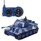 SGILE Spielzeugauto 1:72 Mini RC Tank mit Fernbedienung Deutsch Tiger Panzer Tank Kindergeschenk Grau