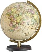 Terra Renaissance Leuchtglobus: 26 cm Durchmesser, Kunststofffuß dunkelbraun, Kunststoffmeridian messingfarben, in 4-farb. Geschenkverpackung