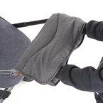 Handmuff / Handwärmer mit Thermo-Fleece, für Kinderwagen, Sportwagen oder Buggy, wasser- und windabweisend, atmungsaktiv - Melange Grey