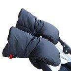 IntiPal Handmuff Handwärmer Handschuhe für Kinderwagen Kinderwagenmuff Schwarz (Schwarz)