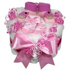 "Windeltorten 100303 Babyboots ""Girl"", rosa"