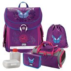 Butterfly Schmetterling Leicht-Schulranzen Set Baggymax CANNY Hama 6 tlg. Sporttasche mit belüftetem NASSFACH