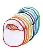 Baby Lätzchen, Baumwolle, Kunststoffrückseite, farbiger Rand, 10-teiliges Set