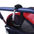 Kinderwagen-Haken - IntiPal Karabinerhaken Clip für Kinderwagen Einkaufstasche Halter Träger