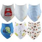 Discoball® Baby Lätzchen Halstücher Dreieckstuch Jungen Mädchen Packung mit 6 Baby Sabber Lätzchen 100% saugfähige und weiche Baumwolle