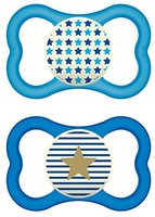 MAM 68297111 Air Night Silikon Schnuller, 6-16 Monate für Jungen, blau