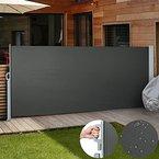 Jago Seitenmarkise Sonnenschutz Sichtschutz Windschutz - diverse Farben und Größen (anthrazit / 160x300cm/ SMKS01-160AT)