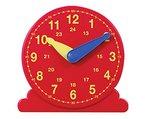 Betzold Lernuhr, Durchmesser 13 cm - Mathematik Arbeitsmaterial Uhrzeiten Demonstrationsuhr Zahlen Rechnen Uhr lesen lernen Kinder Unterricht Schule Lehrmittel Lernmittel