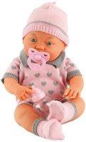 Bayer Design 94299 - Funktionspuppe Baby Bambina mit 30 Babylauten und viel Zubehör, 42 cm