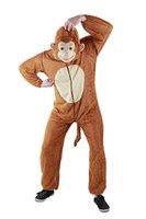 Foxxeo 10005 | Affen Kostüm, Tierkostüm | Gr. S, M, L, XL, XXL,XXXL, Größe:M